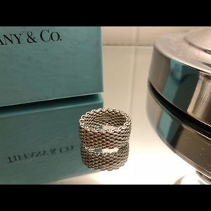 Tiffany & Co. Silver Mesh Ring Size 6